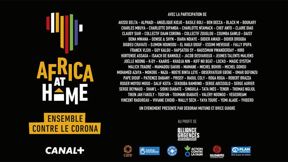 AFRICA AT HOME<br /> Ensemble contre le coronavirus